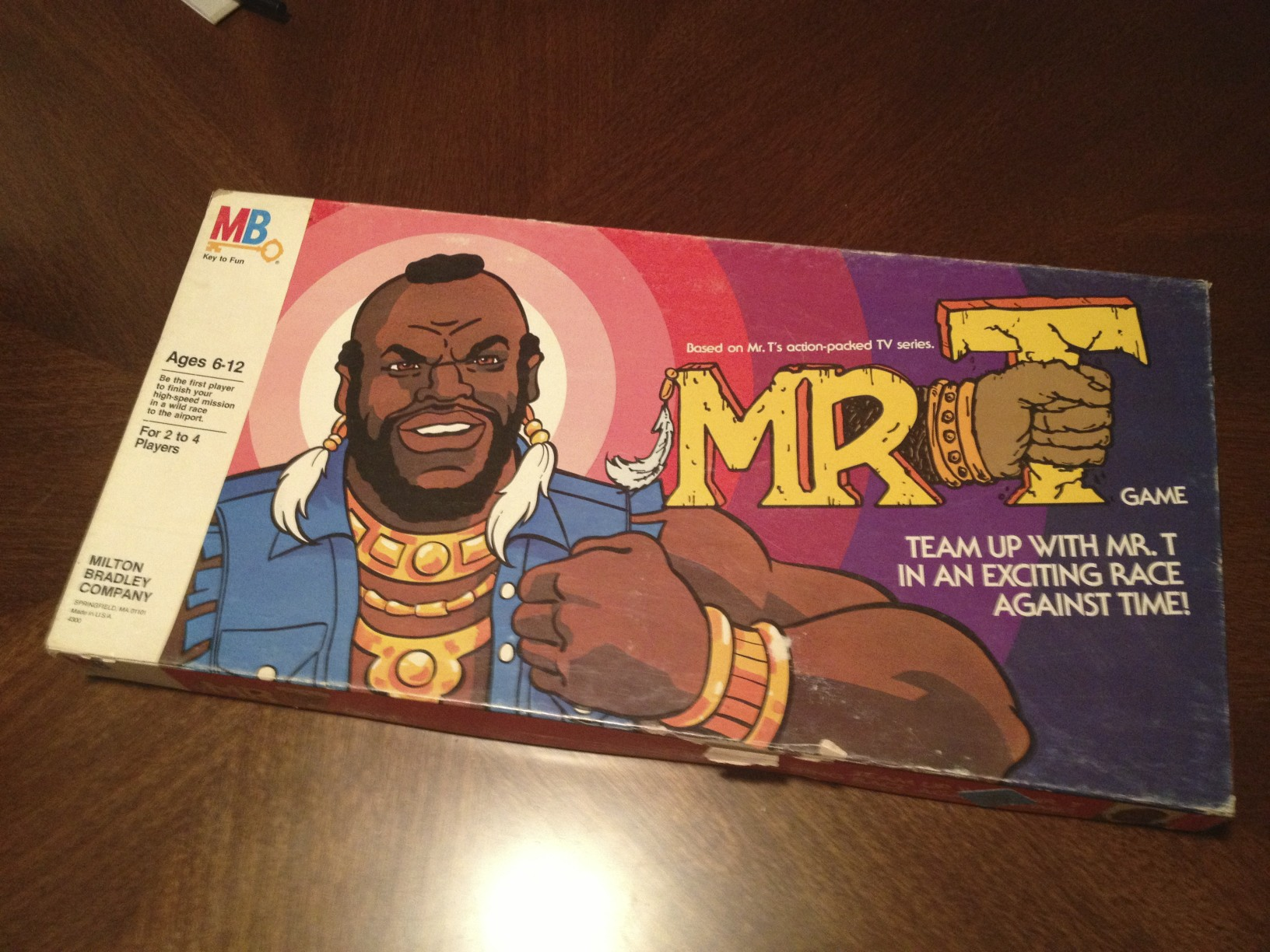 Mr. T board Game box